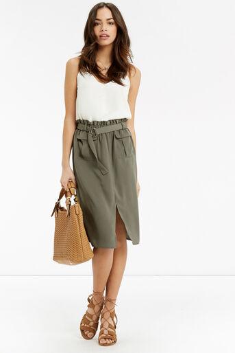 Oasis, Britex Paper Bag Skirt Khaki 2
