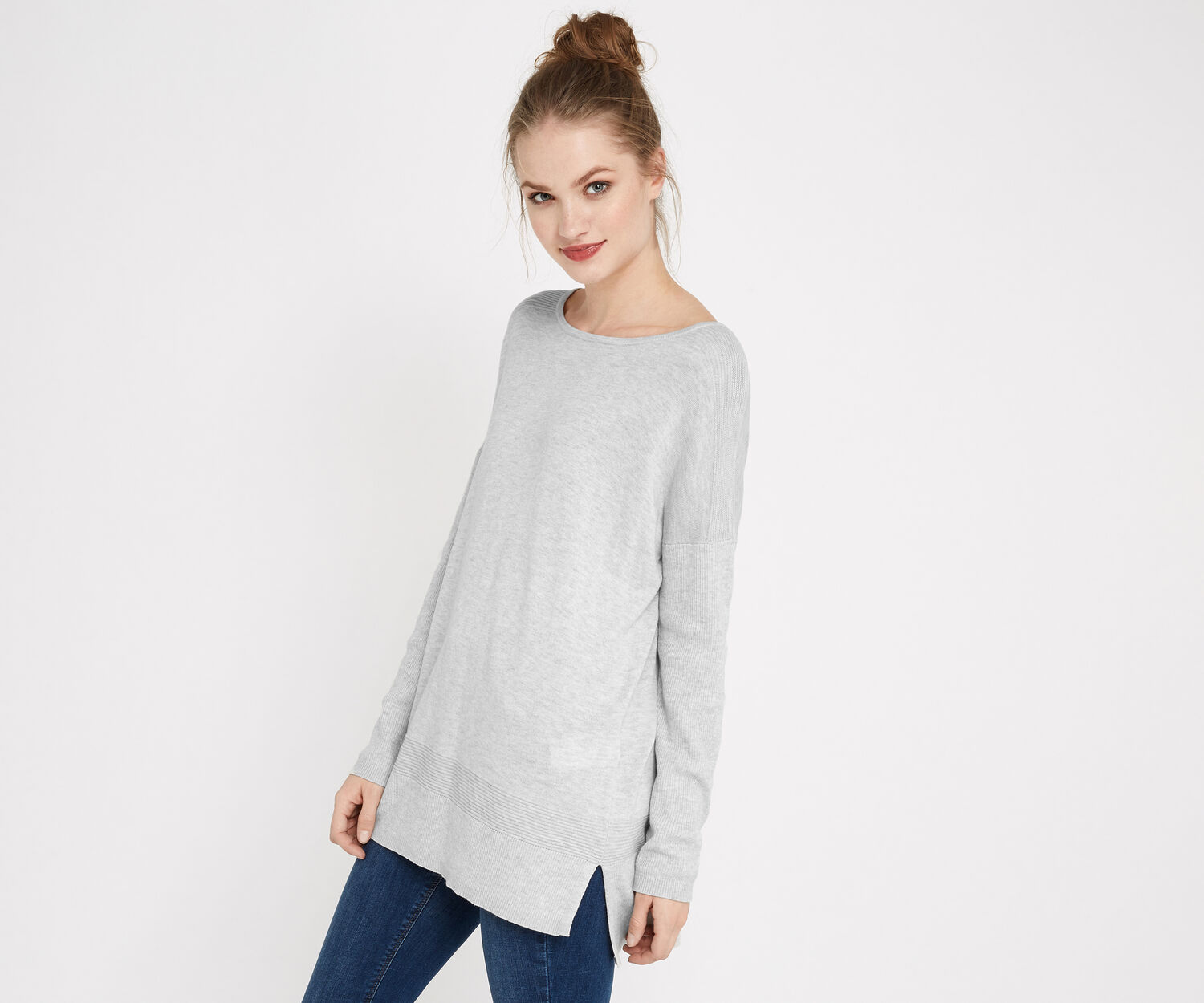 Oasis, Atlantic sweater Mid Grey 1
