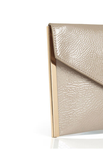 Oasis, PATENT ENVELOPE CLUTCH Mid Neutral 4