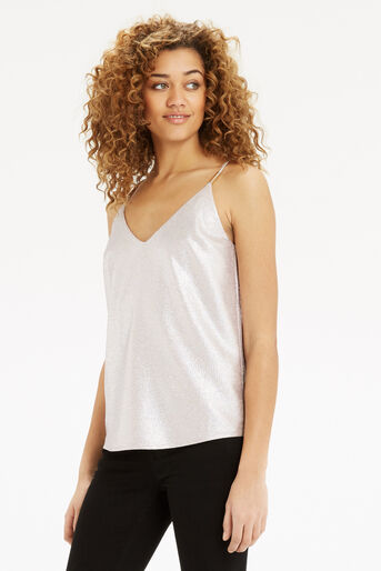 Oasis, Metallic 90S Cami Gold 1