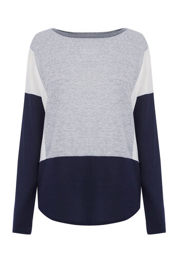 Oasis, COLOUR BLOCK SWEATER Navy 0