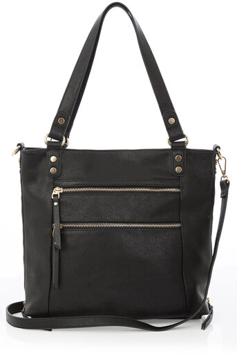 Oasis, Katie Zip Shopper Bag Black 0