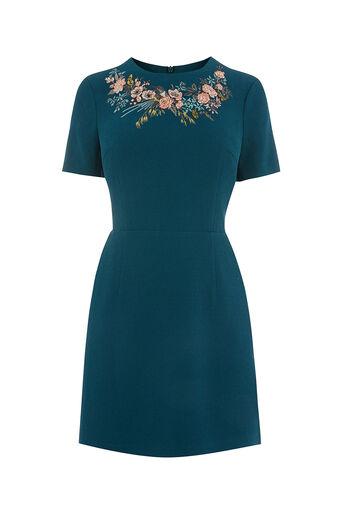 Oasis, AVA EMBROIDERED DRESS SHORT Multi 0