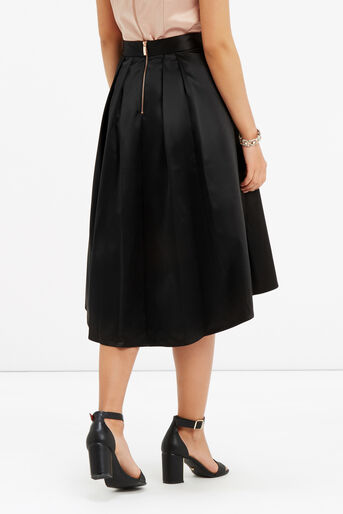 Oasis, PETITE SATIN SKIRT Black 3