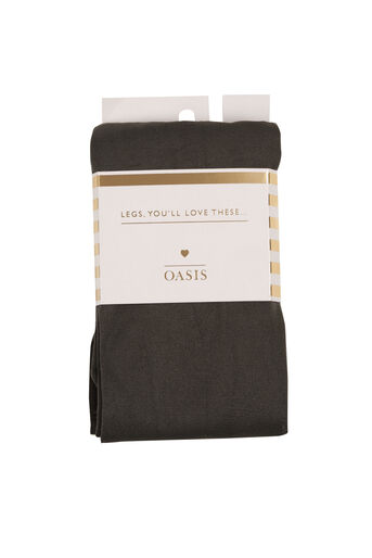 Oasis, 120 Denier Tights Mid Grey 0