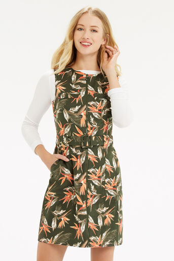 Oasis, Palm Safari Dress Khaki 1