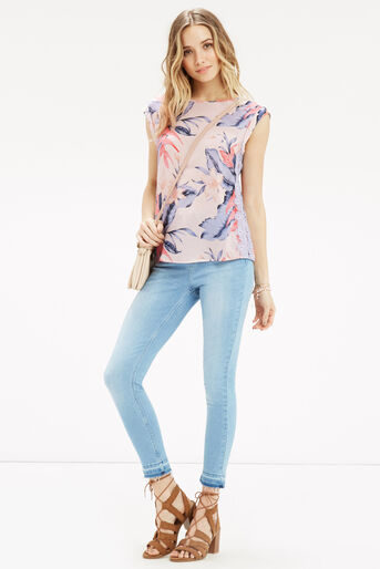 Oasis, TROPICAL FANCY T-SHIRT Multi Pink 2