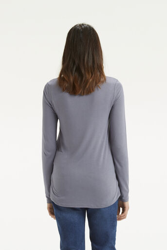 Oasis, Embroidered Opium Top Mid Grey 3