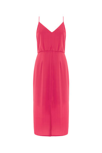 Oasis, PLAIN MIDI DRESS Mid Red 0