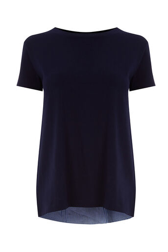 Oasis, STRIPE BACK TEE Navy 0