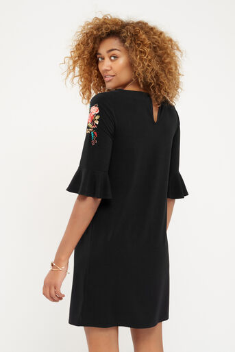 Oasis, EMBROIDERED FLUTE SLEEVE DRESS Multi 3