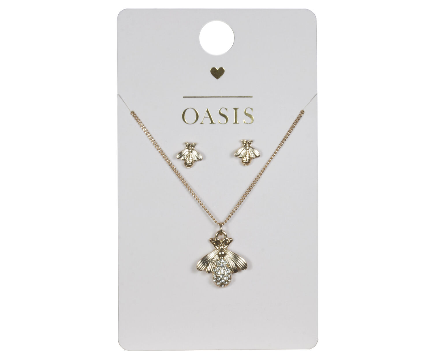 Oasis, BEE CHARM SET Rose Gold 1