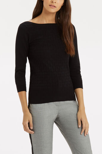 Oasis, The Textured Knit Black 4