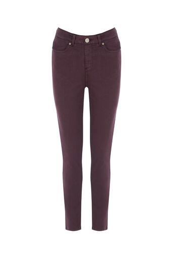 Oasis, Stiletto Skinny Jeans Burgundy 0