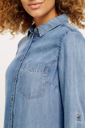 Oasis, One pocket shirt Denim 4