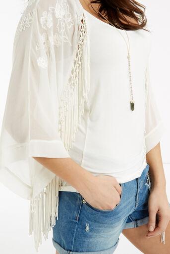 Oasis, Skyla Embroidered Kimono White 4