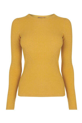 Oasis, LONG-SLEEVED RIB TOP Ochre 0