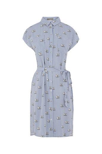 Oasis, STRIPE SWAN SHIRT DRESS Multi Blue 0