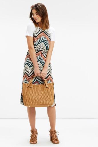 Oasis, Chevron Stripe Midi Dress Multi 2