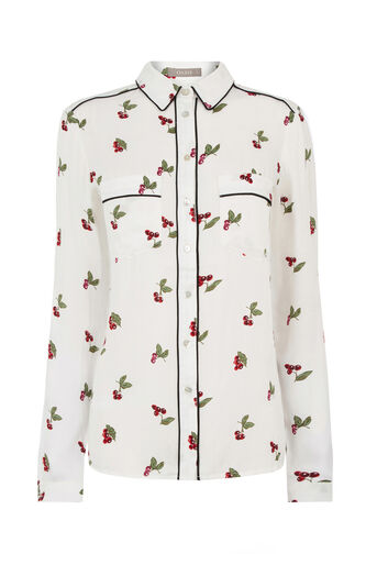 Oasis, CHERRY PIPED SHIRT Multi Natural 0