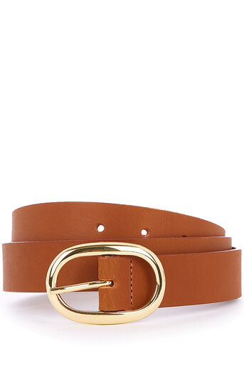 Oasis, OVAL BUCKLE BELT Tan 0