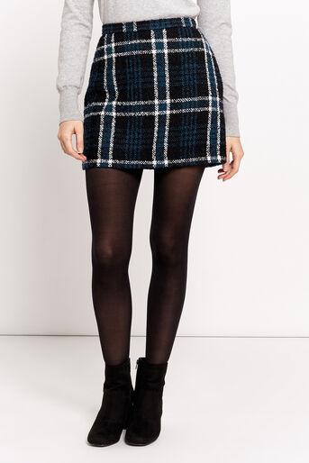 Oasis, Mini-jupe à carreaux Marley Divers tons de noir 1