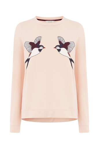 Oasis, BIRD APPLIQUE SWEAT Light Neutral 0