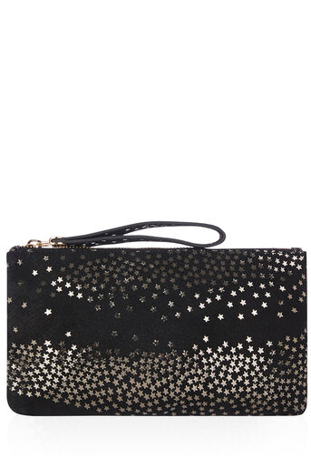 Oasis, LEATHER LILY STAR PURSE Black 0