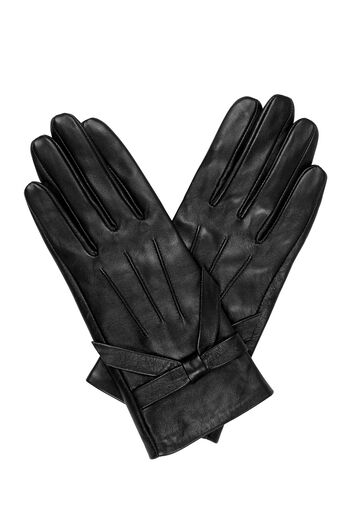Oasis, LEATHER BOW GLOVE Black 0