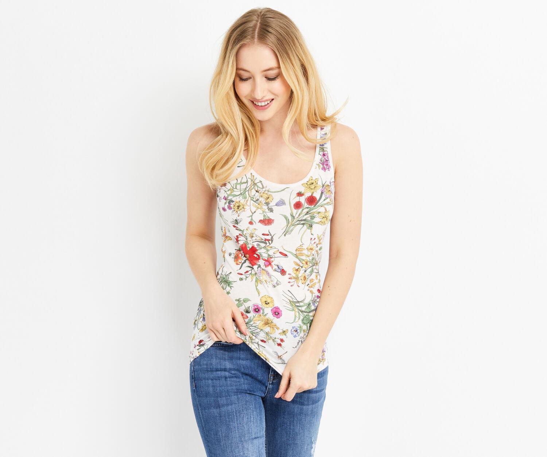 Oasis, azelea print vest Multi 1