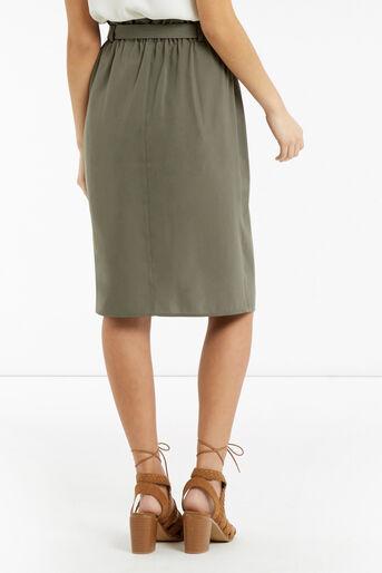 Oasis, Britex Paper Bag Skirt Khaki 3