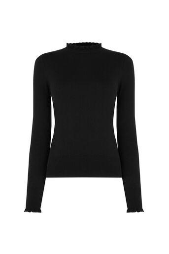 Oasis, Cute Frill Knit Black 0