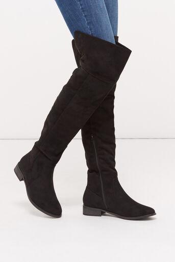 Oasis, BROOKE LONG FLAT BOOT Black 1