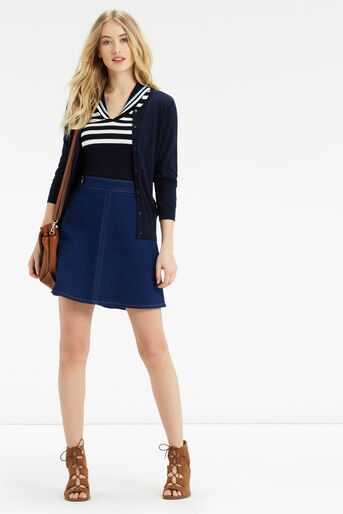 Oasis, Sailor Knitted Top Multi Blue 2