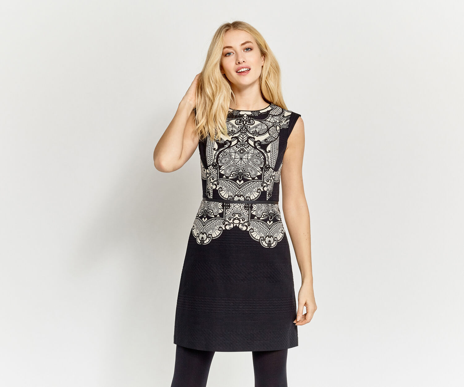 Oasis, DECO LACE PRINT DRESS Multi 1