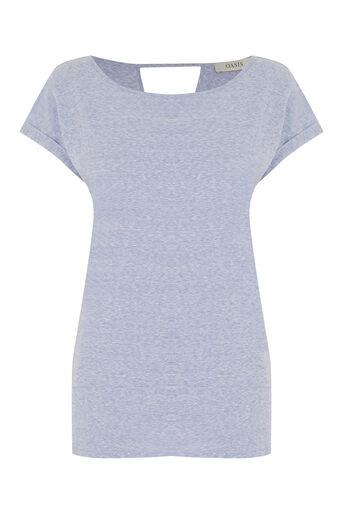 Oasis, Boyfriend T-Shirt Light Blue 0