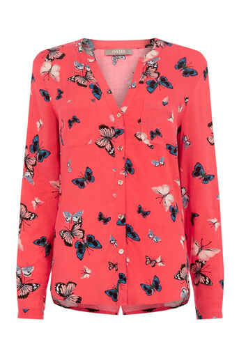 Oasis, BUTTERFLY SHIRT Coral 0