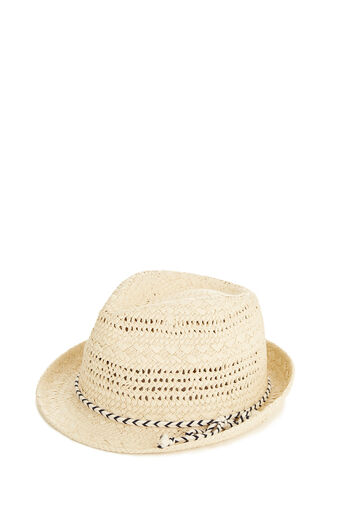 Oasis, Rope Trilby Hat Mid Neutral 0