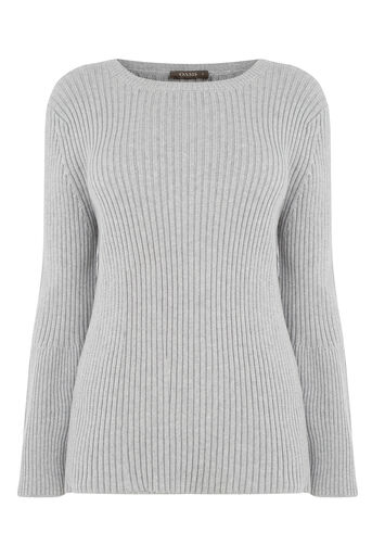 Oasis, Bell Sleeve Knit Mid Grey 0