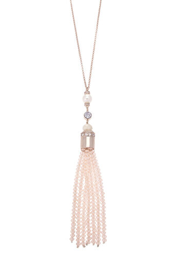 Oasis, Long Tassel Pendant Necklace Gold 0