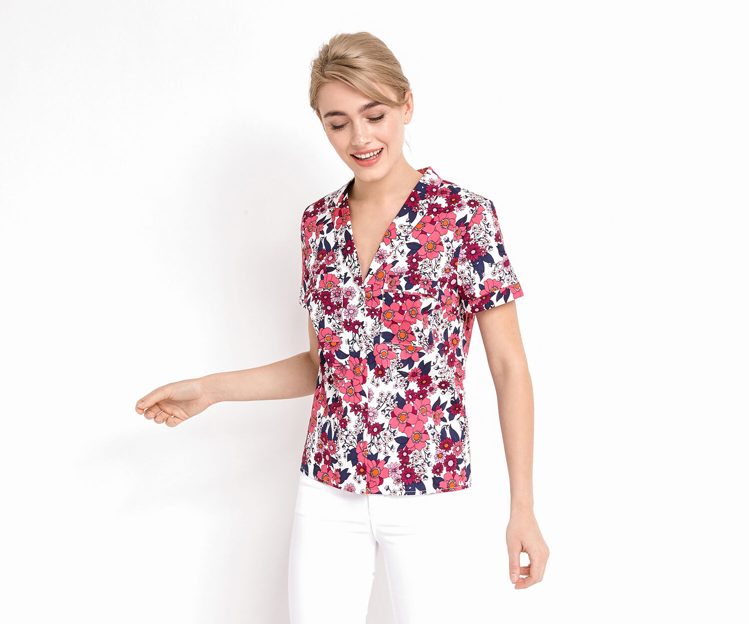 Oasis, CLEO SHIRT Multi Natural 1