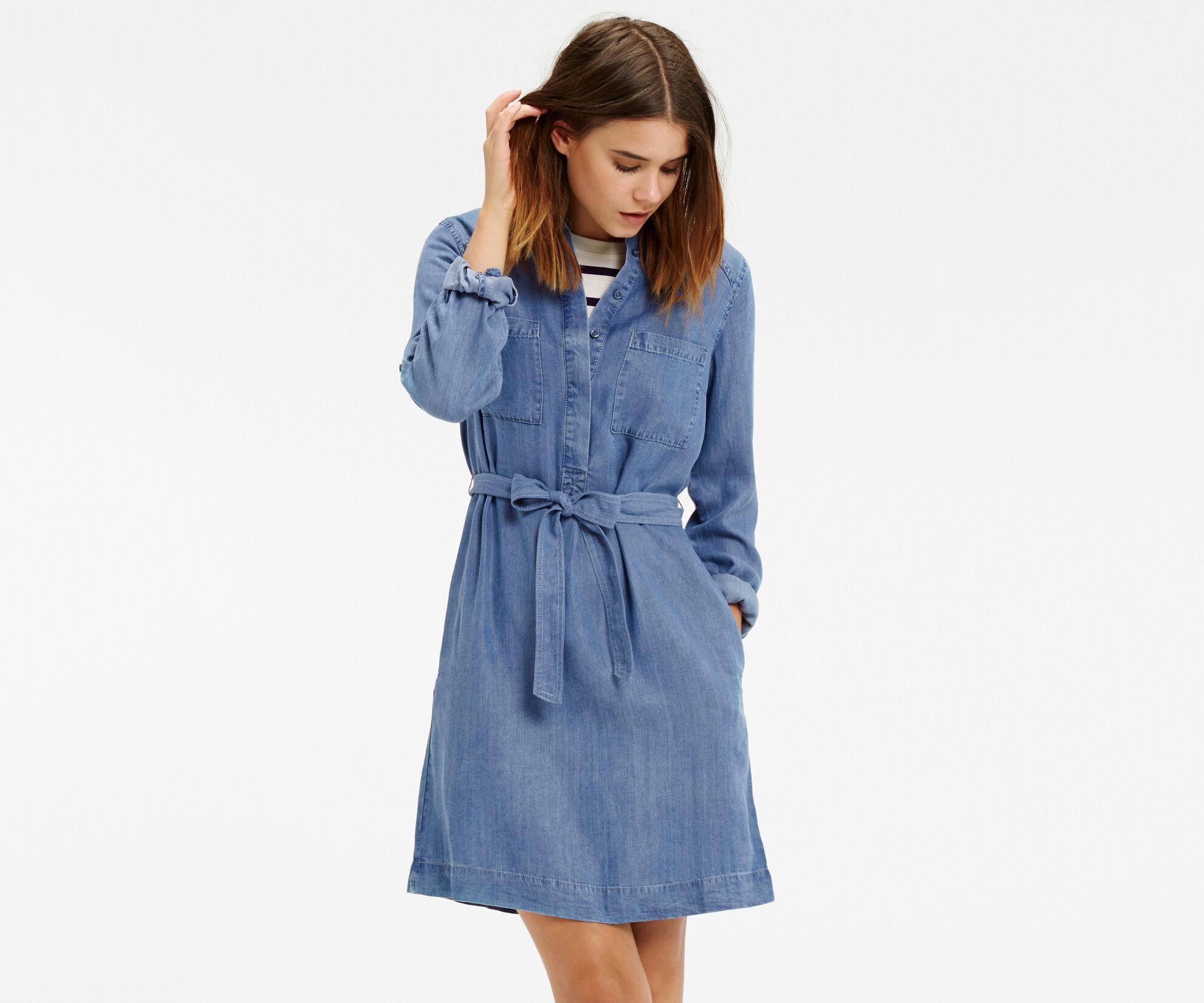 Oasis, Bertie Shirt Dress Denim 1