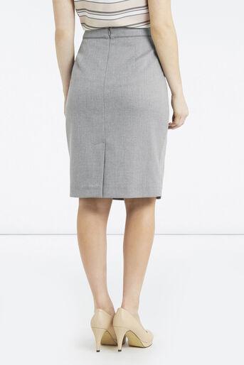 Oasis, Petite Workwear Skirt Pale Grey 3