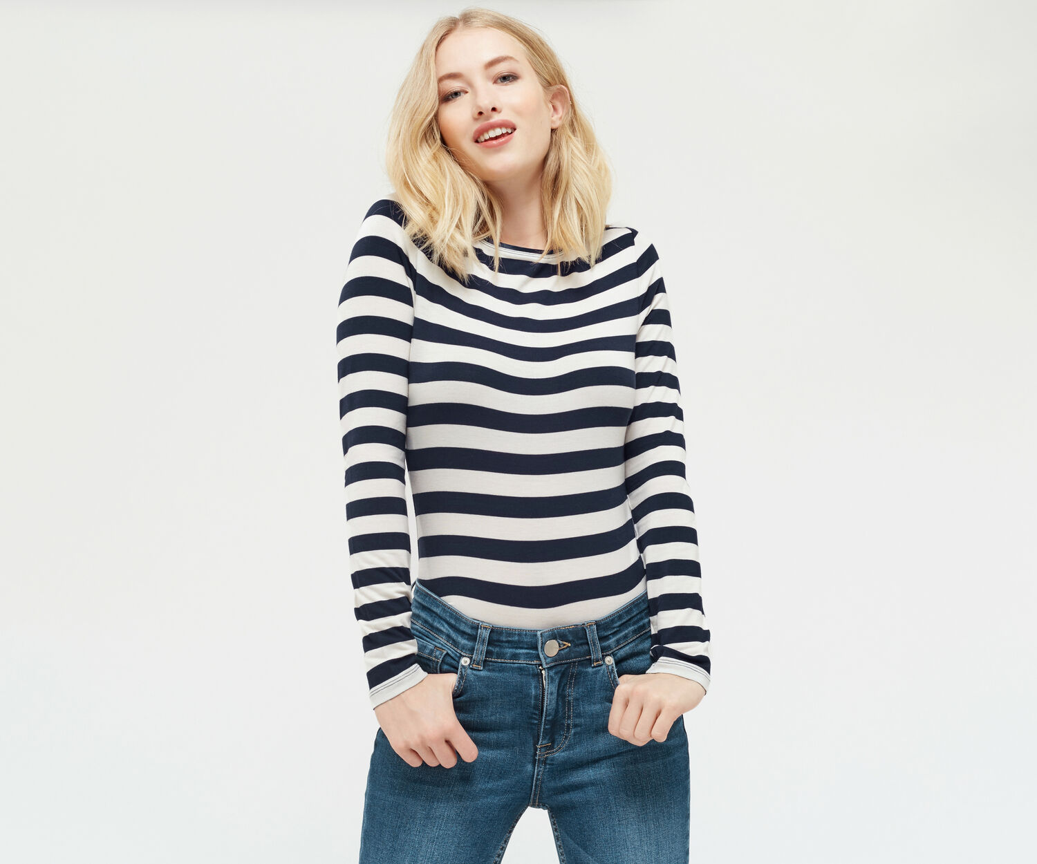 Oasis, BOAT NECK STRIPE TOP Multi 1