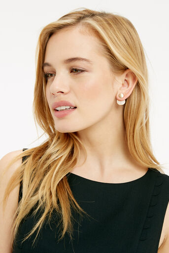 Oasis, DISC UNDER-EAR EARRINGS Gold 1
