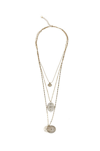 Oasis, FILIGREE LAYERED NECKLACE Gold 0