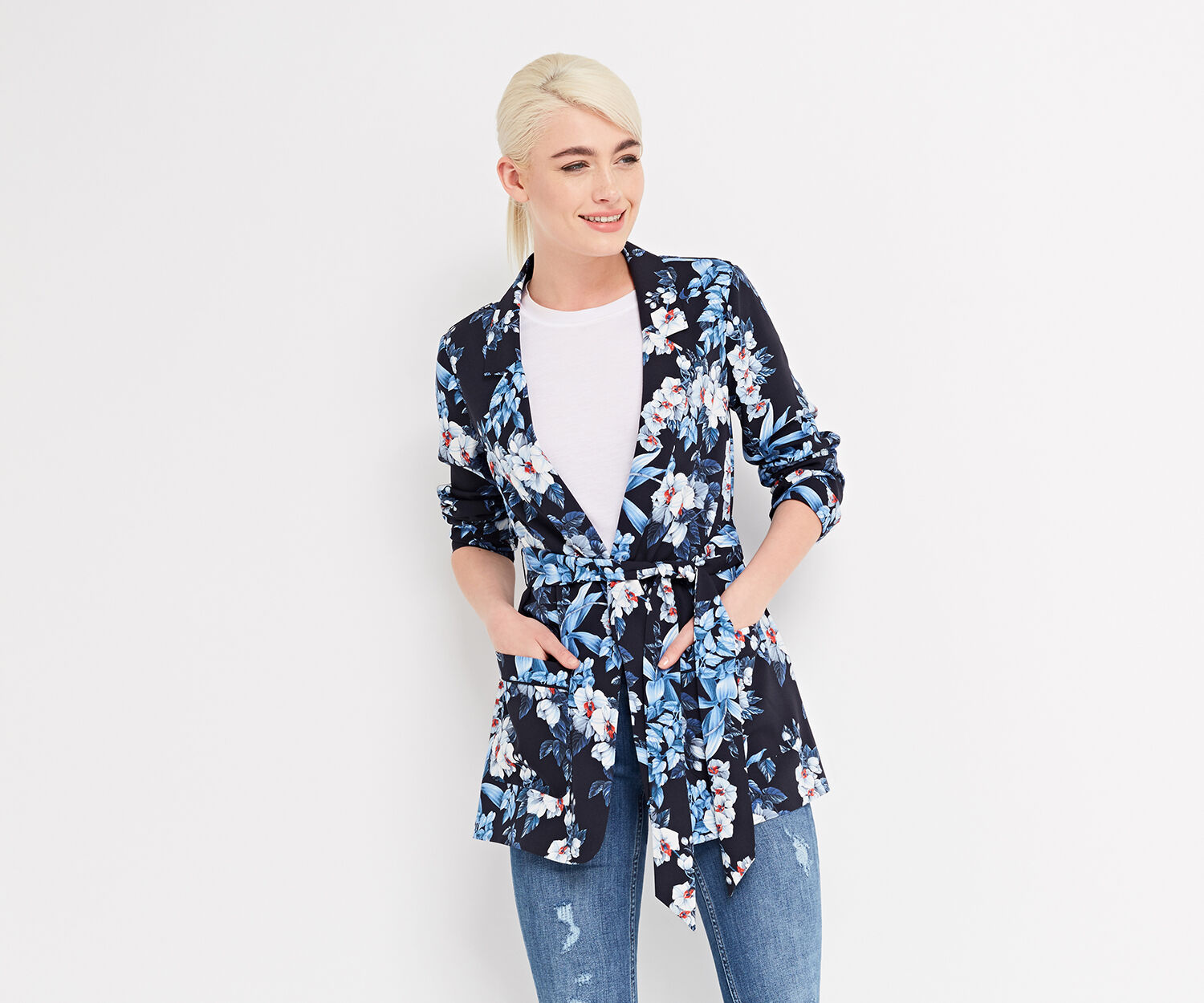 Oasis, TROPICAL ORCHID SOFT BLAZER Multi 1