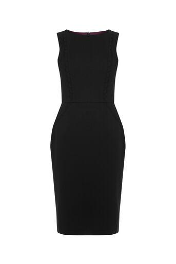 Oasis, CLARA WORKWEAR DRESS Black 0