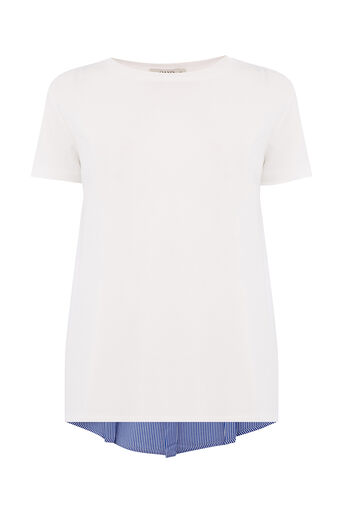 Oasis, STRIPE BACK TEE Cream 0