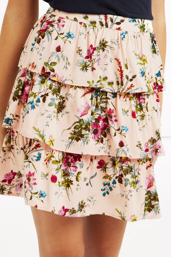 Oasis, Chintz Rosanna Rara Skirt Multi Natural 4